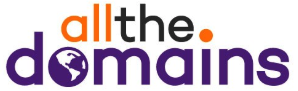 allthe.domains logo over 800 domain names